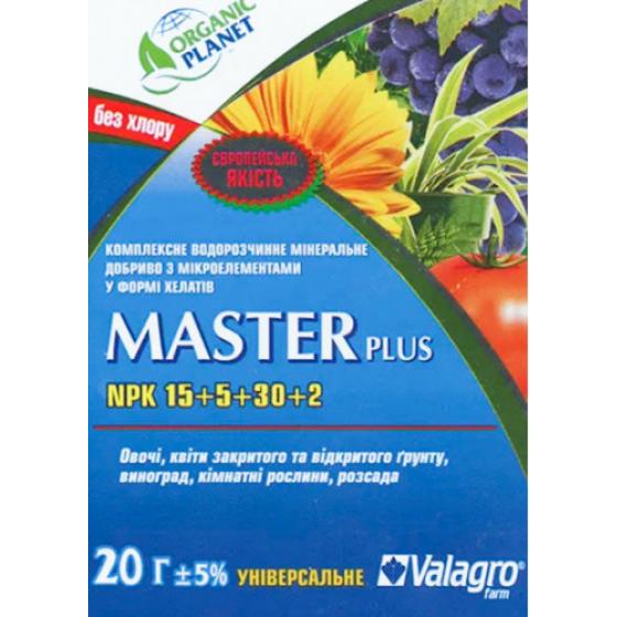 Master (Мастер), Мінеральне добриво, 20 г, NPK 15-5-30, Valagro
