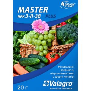 Master (Мастер), Мінеральне добриво, 20 г, NPK 3-11-38, Valagro